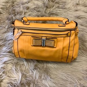 Yellow Vegan Leather Bag